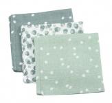 Briljant Hydrofiele Monddoekjes Spots Stone Green (3 stuks)