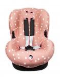Autostoelhoes Spots Grey Pink 1+