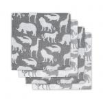 Hydrofiele Luiers (4 stuks)  Safari Grey