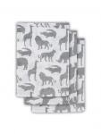 Jollein Hydrofiele Washandjes  Safari Stone Grey (3 stuks)