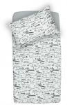 Little Lemonade Dekbedovertrek Quotes Black/White 100 x 140 cm