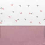 Little Lemonade Laken Triangle Grey/Pink 75 x 100 cm