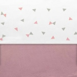 Little Lemonade Laken Triangle Grey/Pink 120 x 150 cm