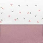 Little Lemonade Laken Triangle Grey/Pink 120 x 150 cm