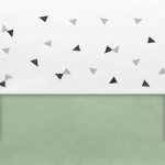 Little Lemonade Laken Triangle Grey/Black 75 x 100 cm