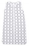 Briljant Slaapzak Zomer Grid Wit/Zwart 110cm