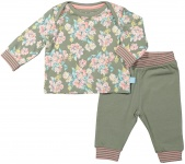Charlie Choe Pyjama Flowers Green