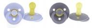 Bibs Fopspeen 0-6mnd Iron/Baby Blue (2 stuks)