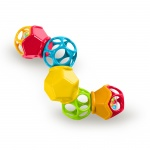 Oball Clickity Twister Easy Grasp Rattle 3mnd+
