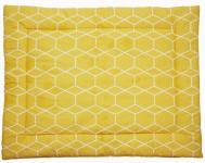 Briljant Boxkleed Grid Oker 80 x 100