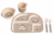 Bo Jungle B-Corn Dinner Set Aap Grijs