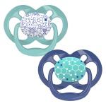 Dr. Brown's Fopspeen Fase 2 Blauw/Mint (2Stuks)