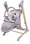 Bo Jungle B-Swinging High Chair Wood Grey