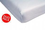 Airgosafe Hoeslaken Wit Duo-Pack (2 stuks) 60 x 120 cm