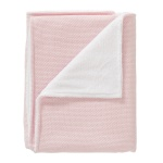Cottonbaby Wiegdeken Winter Diamond Wafel Roze 75 x 90 cm
