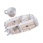 Done By Deer Dinner Set Happy Dots Powder