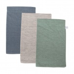 Little Dutch Washand 3Stuks Pure Mint/Grey/Blue