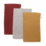 Little Dutch Washand 3Stuks Pure Indian Red/Grey/Ochre