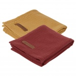 Little Dutch Swaddle 2Stuks Pure Indian Red/Ochre  70x70