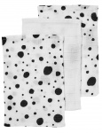 Meyco Hydrofiele Washandjes 3pack  Dots Zwart/Wit