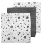 Meyco Hydrofiele Luiers 3pack  Dots Grijs/Wit