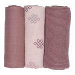 Lodger Swaddler Empire Plush 70x70 3pack