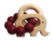 Chewies & More Play Rattle Burgundy