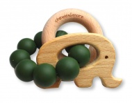 Chewies & More Play Rattle Deep Green