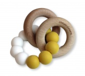 Chewies & More Basic Rattle Oker/Wit