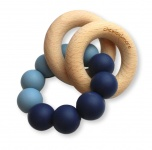 Chewies & More Basic Rattle Deep Blue/Dusty Blue