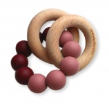 Chewies & More Basic Rattle Burgundy/Blush