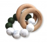 Chewies & More Basic Rattle Deep Green/Marble