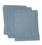 Briljant Hydrofiele Washandjes Dusty Blue (3 stuks)