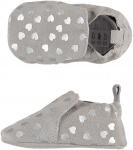XQ Little Shoes Schoen Leather Silver Hearts