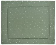 Meyco Boxkleed Sweet Triangle Forest Green 77 x 97 cm