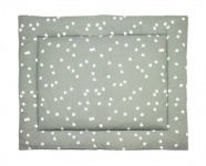 Briljant Boxkleed Spots Stonegreen 80 x 100