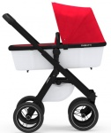 Dubatti One E2 Black/Black frame + Bekleding Off white/Red incl. Voetenzak Red én Parasol Red