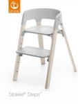 Stokke® Steps™ Chair Seat Grey Legs Beech Wood White Wash