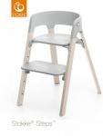 Stokke® Steps™ Chair Seat Grey Legs Beech Wood White Wash