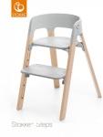 Stokke® Steps™ Chair Seat Grey Legs Beech Wood Natural