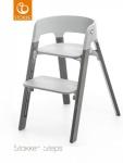 Stokke® Steps™ Chair Seat Grey Legs Beech Wood Storm Grey