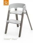 Stokke® Steps™ Chair Seat Grey Legs Beech Wood Hazy Grey