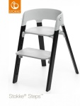Stokke® Steps™ Chair Seat Grey Legs Oak Wood Black