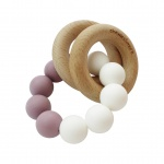 Chewies & More Basic Rattle Mauve/Wit