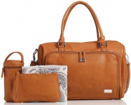 Isoki Double Zip Satchel Avalon/Tan