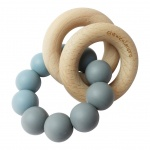 Chewies & More Basic Rattle Donker Grijs/Dusty Blue