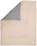 Koeka Boxkleed Wafel Amsterdam Steel Grey/Sand  80 x 100 cm