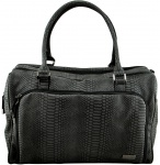 Isoki Double Zip Satchel Black Mumba