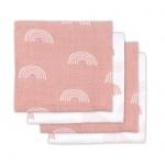 Hydrofiele Multidoek Small 70x70 Rainbow Blush Pink 4pck