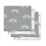 Hydrofiele Multidoek Small 70x70 Rainbow Grey 4pck